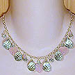 DKC ~ Aqua Quartz Briolette & Rose Quartz Heart Necklace