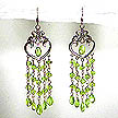 DKC ~ Peridot Chandelier Heart Earrings