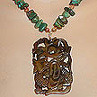 DKC ~ Jade Dragon Necklace w/ Turquoise & Crazy Lace Agate
