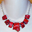 DKC ~ Coral Chunks on Sterling Chain
